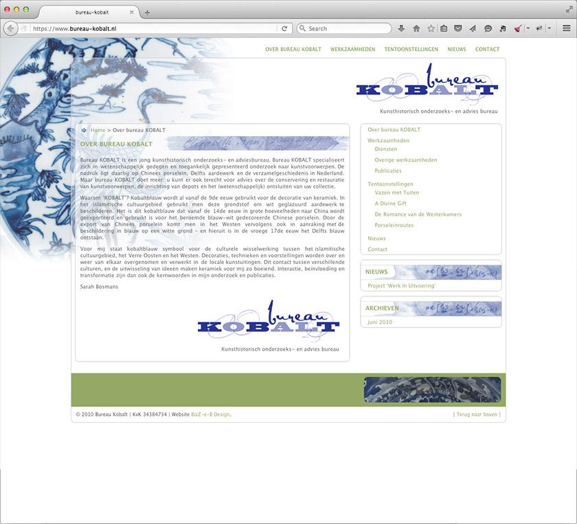Design of corporate identity Bureau Kobalt