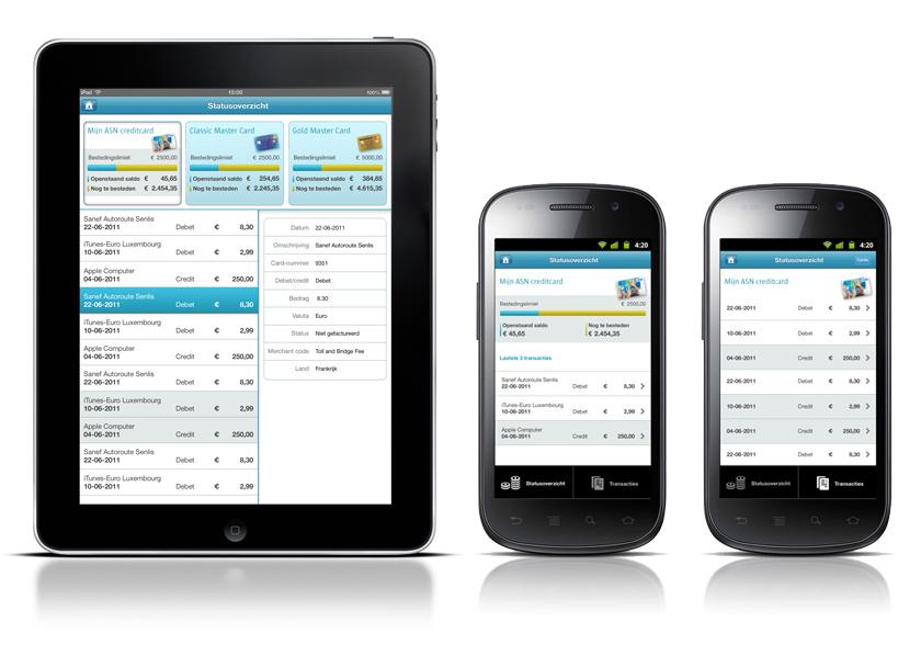 Creditcard app for ICS