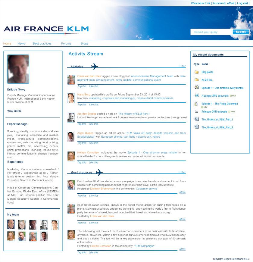 Pitch social media website/intranet
