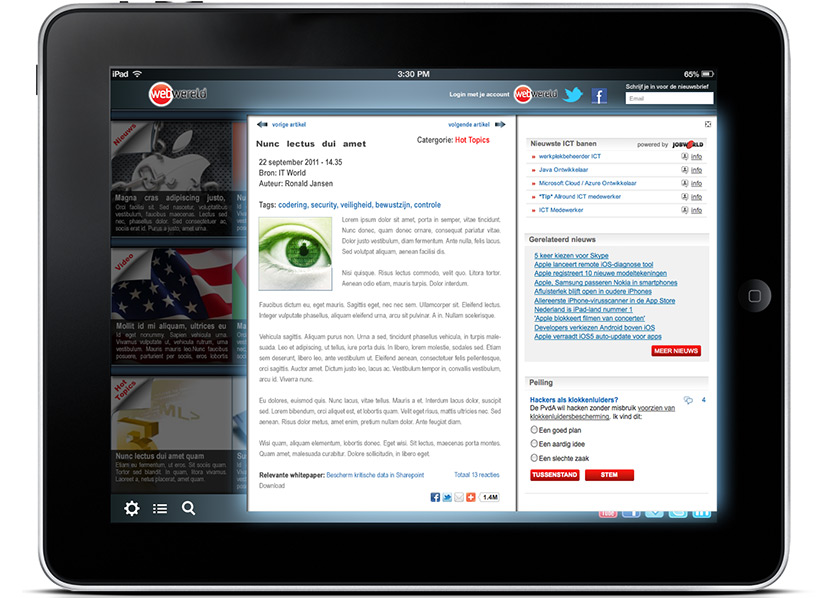 Pitch news app for Webwereld